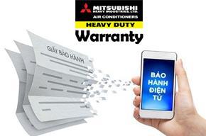 Hướng dẫn đăng ký bảo hành điện tử máy điều hòa Mitsubishi Heavy