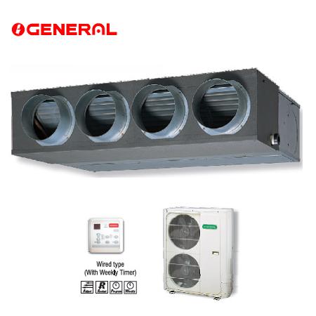 Điều hòa nối ống gió General 2 chiều 25.000Btu ARG25RLC/AOG25RNBL giá rẻ, chính hãng