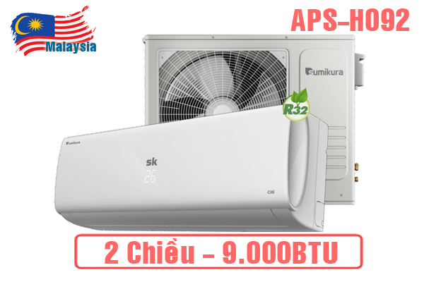 Sumikura APS-H092, Điều hòa Sumikura 9000BTU 2 chiều gas R32