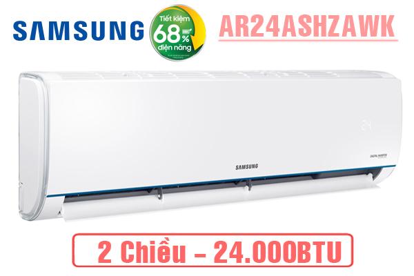 AR24ASHZAWKNSV, Điều hòa Samsung 24000BTU 2 chiều inverter
