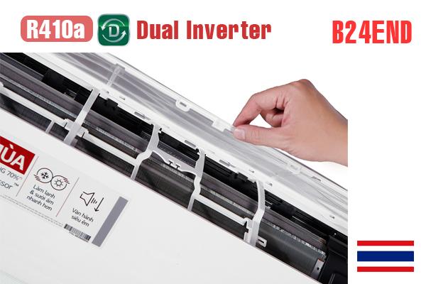 Điều hòa LG 2 chiều 24000BTU B24END inverter - Điều hòa LG giá rẻ