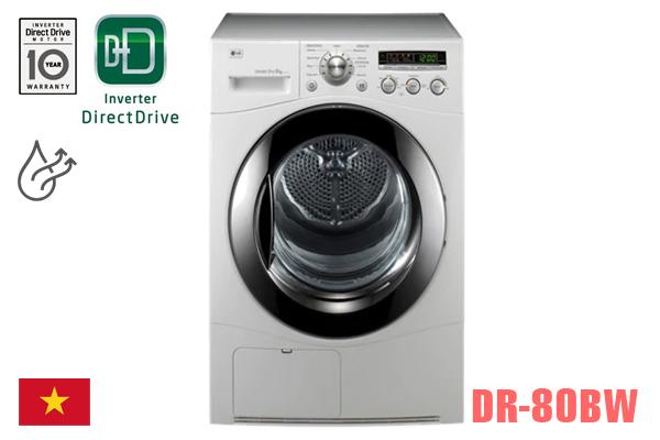 LG DR-80BW, Máy sấy quần áo LG 8kg ngưng tụ