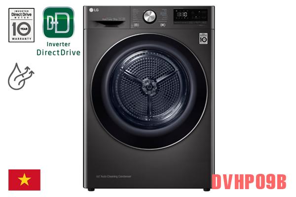 LG DVHP09B, Máy sấy quần áo LG 9kg ngưng tụ [Màu đen]