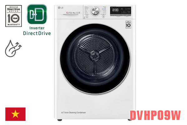 LG DVHP09W, Máy sấy quần áo LG 9kg ngưng tụ [Màu trắng]