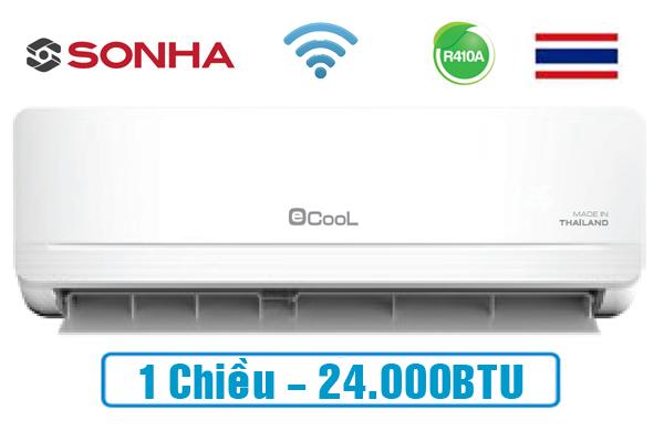 ECL-1E24WF, Điều hòa Ecool 1 chiều 24000BTU Wifi