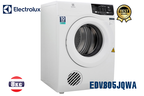 EDV805JQWA, Máy sấy Electrolux 8Kg (màu trắng) tốt nhất 2020