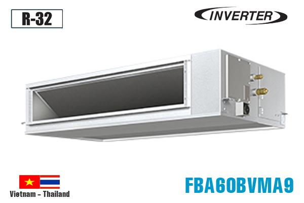 FBA60BVMA9/RZF60CV2V, Điều hòa nối ống gió Daikin 21000BTU inverter 1 chiều