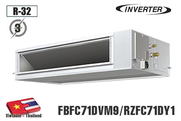 FBFC71DVM9/RZFC71DY1, Điều hòa âm trần nối ống gió Daikin 24000BTU