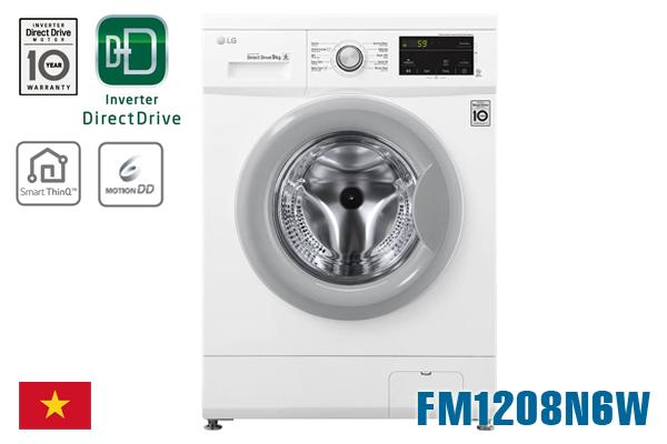 Máy giặt LG FM1208N6W inverter 8Kg cửa ngang [Màu trắng]