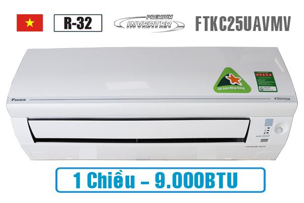 Daikin FTKC25UAVMV, Điều hòa Đaikin 1 chiều 9000BTU inverter
