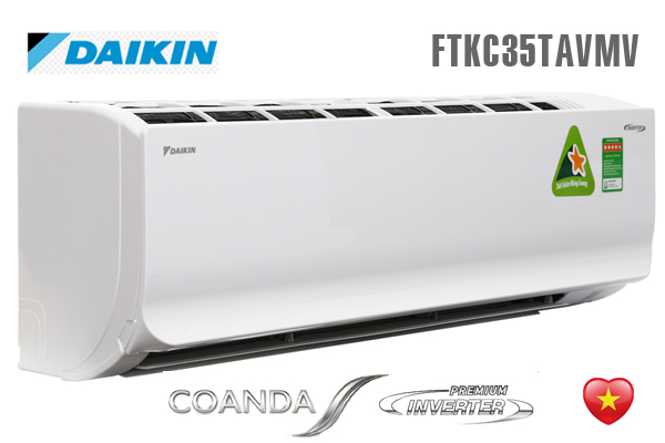 Äiá»u hòa Daikin 1 chiá»u 12.000BTU Coanda FTKC35TAVMV