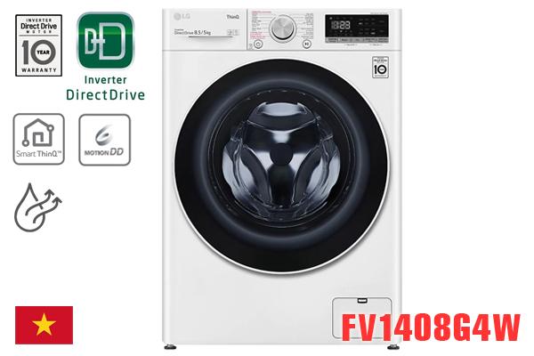 LG FV1408G4W, Máy giặt LG 8.5kg có sấy 5kg [Giá rẻ nhất 2020]