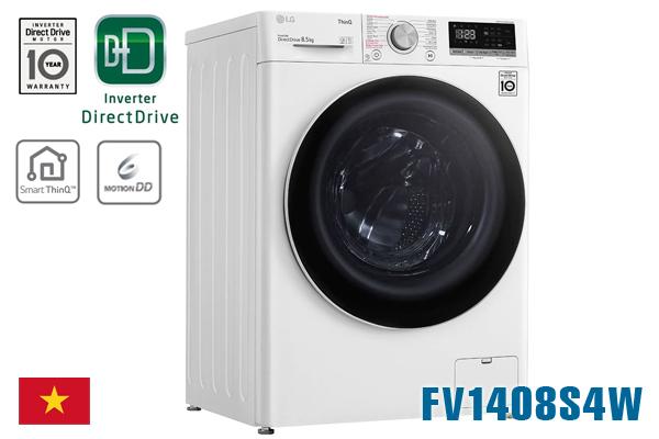 LG FV1408S4W, Máy giặt LG 8.5kg cửa ngang [Giá rẻ nhất 2020]