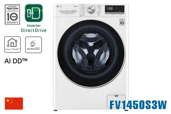 Máy giặt LG FV1450S3W 10.5Kg cửa ngang inverter [Màu trắng]