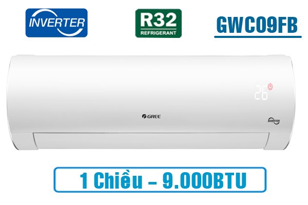 Gree GWC09FB-K6D9A1W, Điều hòa Gree 9.000BTU inverter 1 chiều
