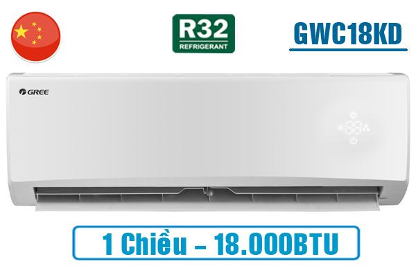 Gree GWC18KD-K6N0C4, Điều hòa Gree 1 chiều 18000BTU gas R32