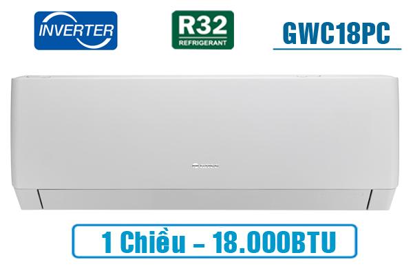 Gree GWC18PC-K3D0P4, Điều hòa Gree 18000BTU 1 chiều inverter