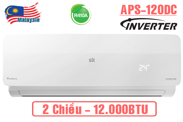 APS/APO-H120DC, Điều hòa Sumikura 12000BTU 2 chiều Inverter