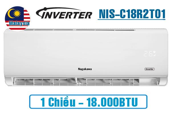 Nagakawa NIS-C18R2T01, Điều hòa Nagakawa 18000BTU 1 chiều inverter