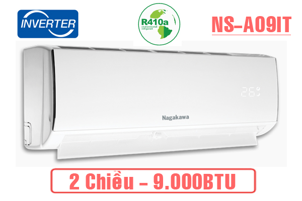Nagakawa NS-A09IT, Điều hòa Nagakawa 2 chiều 9.000BTU Inverter