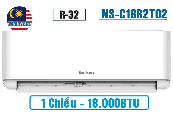 NS-C18R2T02, Điều hòa Nagakawa 18000BTU 1 chiều gas R32