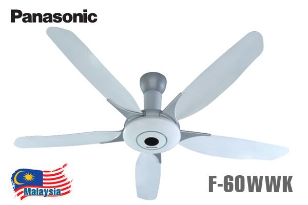 Quạt trần Panasonic F-60WWK 5 cánh điều khiển từ xa