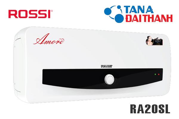 RA20SL, Bình nóng lạnh Rossi Amore 20l ngang
