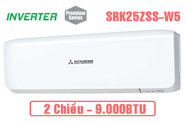 SRK25ZSS-W5, Điều hòa Mitsubishi Heavy 9000 BTU 2 chiều inverter