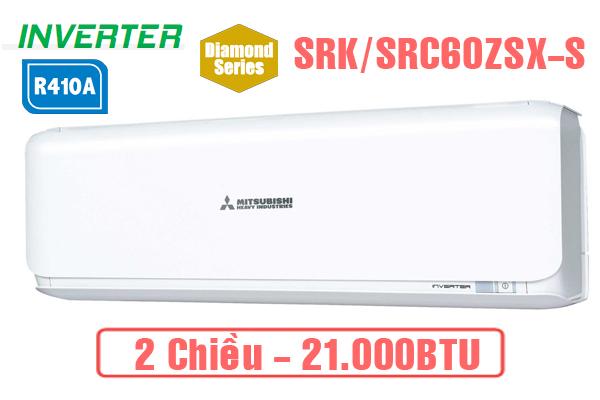 SRK/SRC60ZSX-S, Điều hòa Mitsubishi Heavy 2 chiều inverter 21000BTU