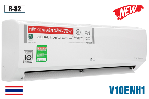 LG V10ENH1, Điều hòa LG 9000 BTU inverter 1 chiều [2021]