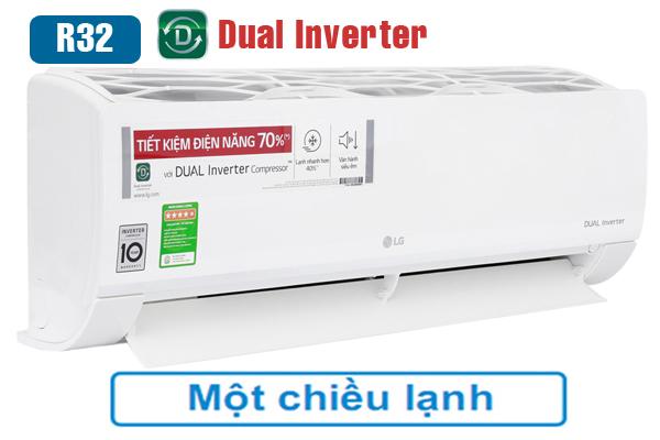 LG V10ENW, Điều hòa LG 9000 BTU 1 chiều inverter giá rẻ