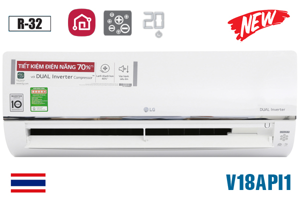 LG V18API1, Điều hòa LG 18000 BTU 1 chiều inverter ThinQ