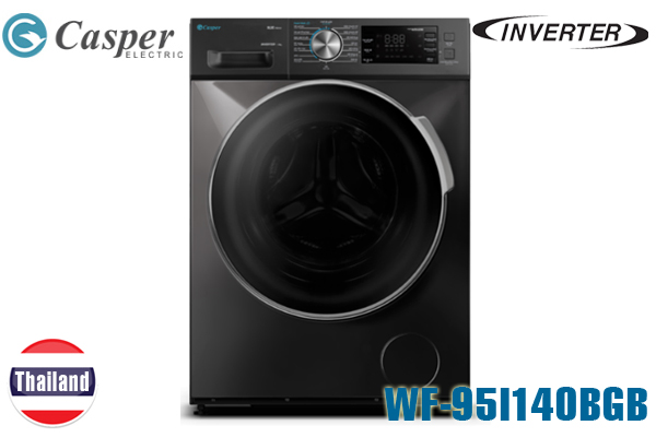 WF-95I140BGB, Máy giặt Casper 9.5 Kg cửa ngang inverter