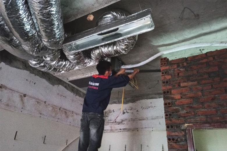 Kỹ thuật Bảo Minh - Thi công lắp đặt điều hòa âm trần nối ống gió