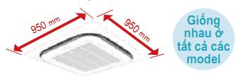 điều Hòa Cassette Daikin 30000BTU 1 Chiều FCNQ30MV1/RNQ30MV1