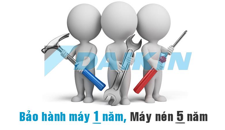 dieu hoa daikin bao hanh may nam